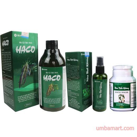Bộ sản phẩm Tóc Haco-Hỗ trợ làm tóc đen, kích thích mọc tóc hiệu quả